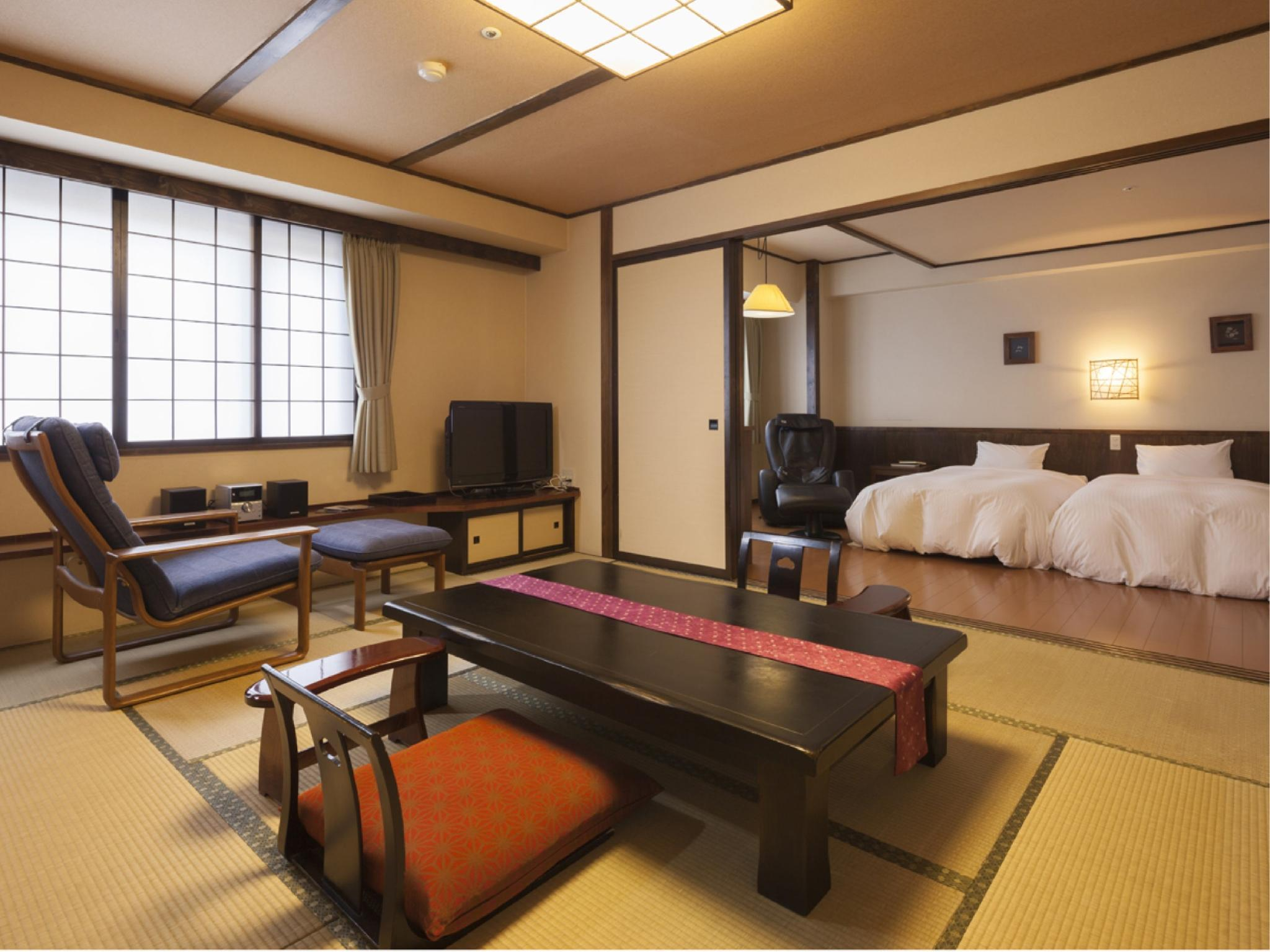 다다미 침대 객실(FURUSATO-KAN/2베드) (Japanese/Western-style Room (2 Beds, Furusato Wing))