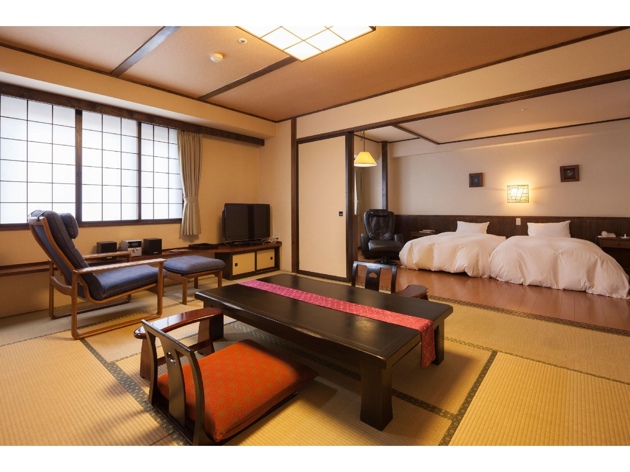 Japanese/Western-style Room (2 Beds, Furusato Wing)