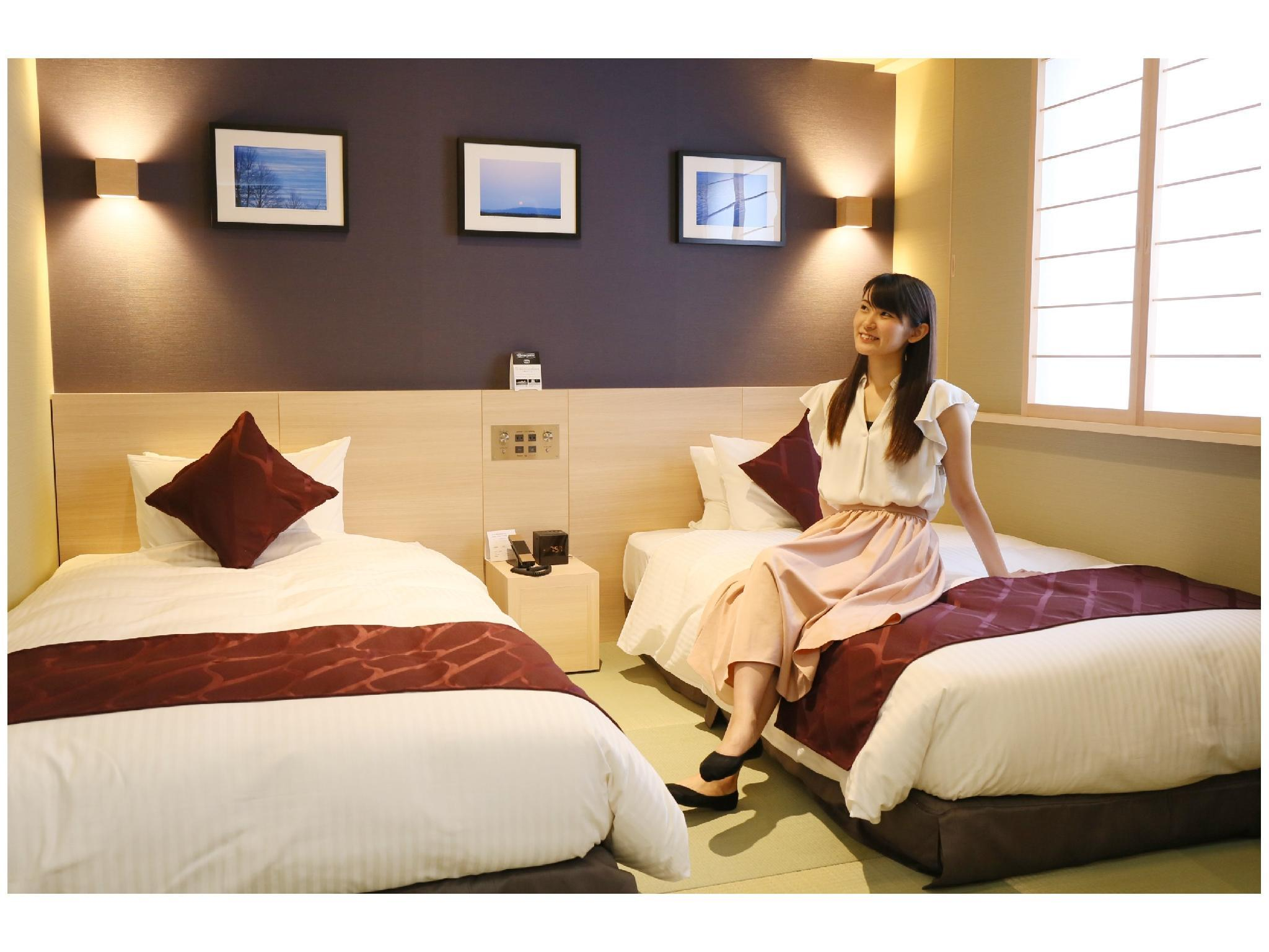 일본식 트윈룸(베드×2) (Japanese-style Twin Room (2 Beds))