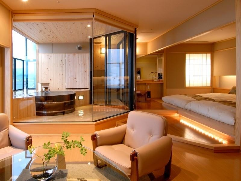 Suite with Open-air Hot Spring Bath (Tokinohana Type)