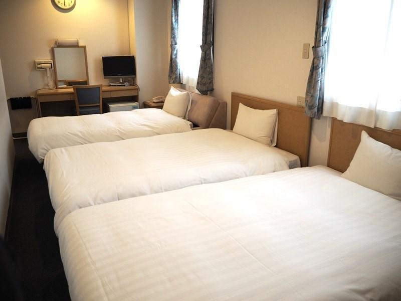 三人房(2張單人床+1張簡易床) (Triple Room with 2 Single Beds and 1 Extra Bed)