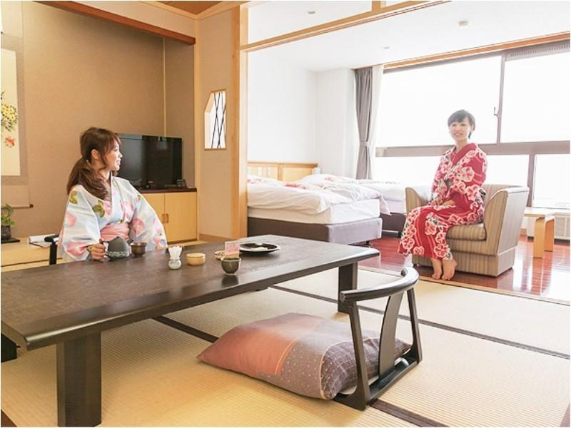 和洋室 10畳+12.7平米(定員7名)※喫煙可 (Japanese/Western-style Room (2 Beds, South Wing))