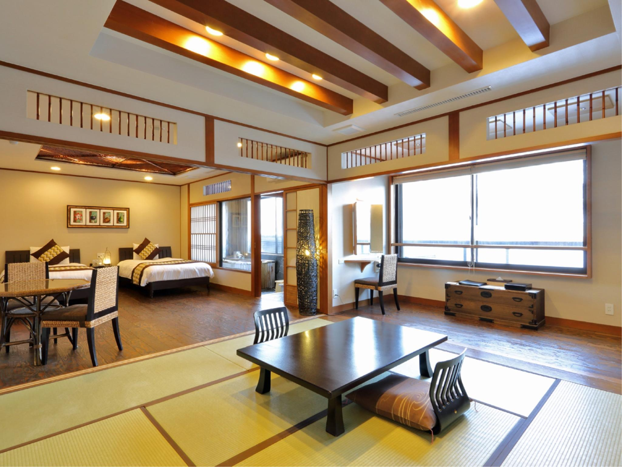 Japanese/Western-style Room with Hot Spring Bath (2 Beds)