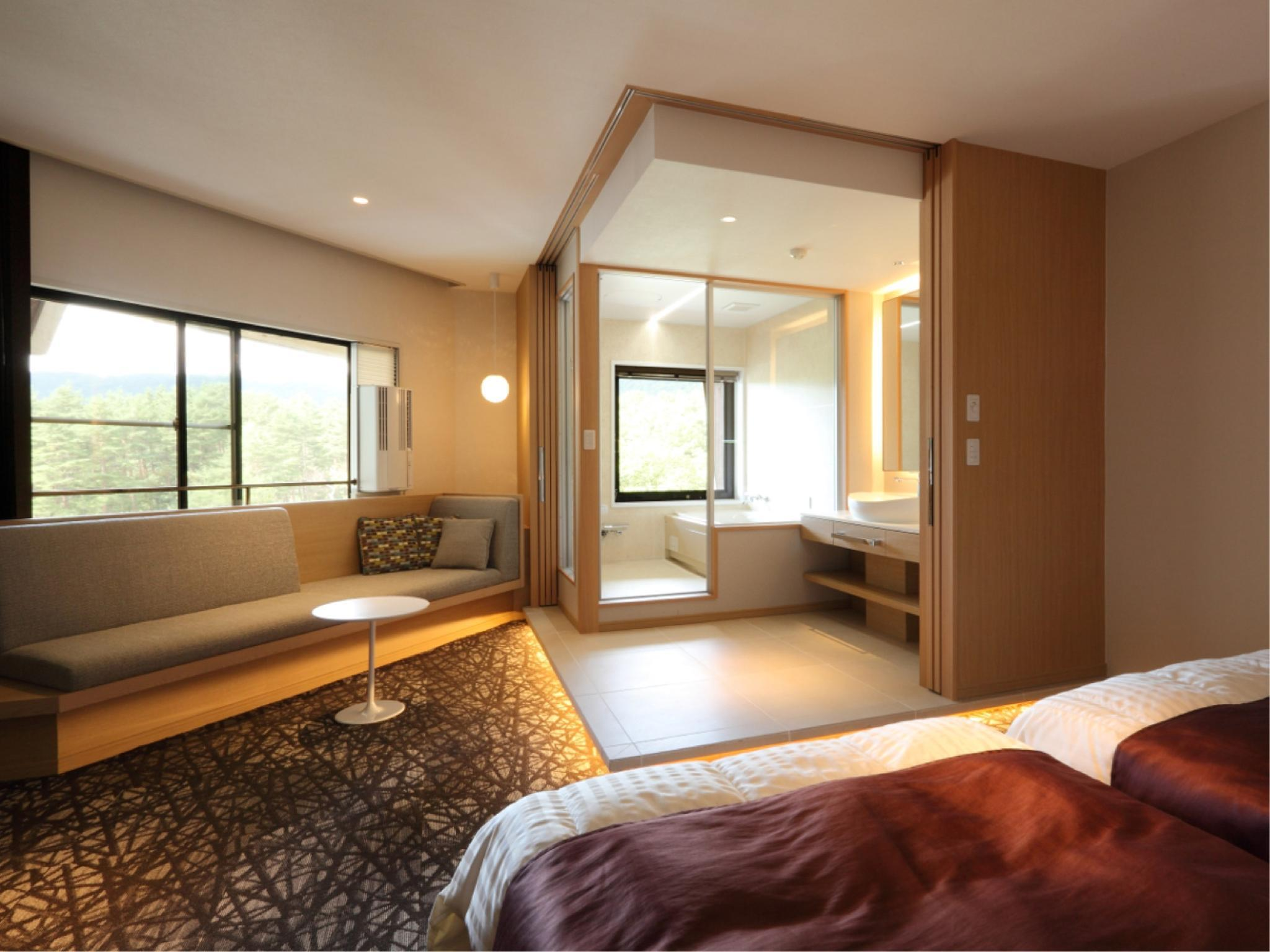 雙人雙床房+觀景風呂 (Twin Room with Scenic View Bath)