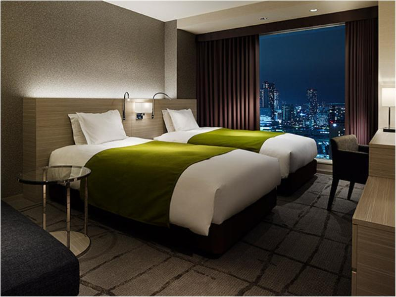 观景盆浴双人双床房 (Deluxe Twin Room with Scenic View Bath (Skytree Side))