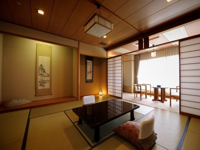 大観(露天風呂付客室) 禁煙|12.5畳+踏込 (Japanese-style Room with Open-air Bath (Taikan Wing))