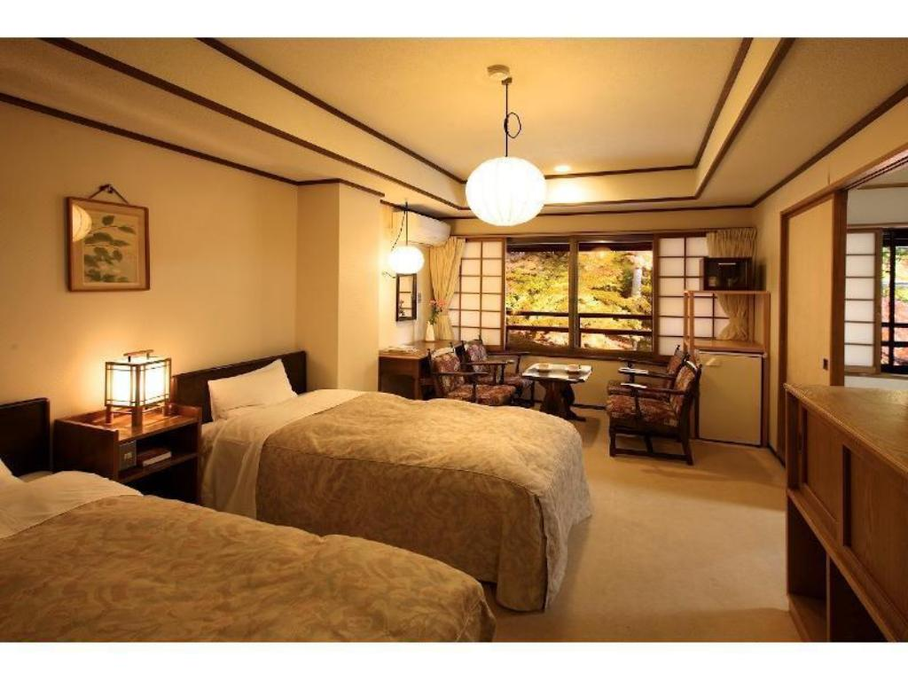 Japanese/Western-style Room (Twin Beds, Type S, Main Building) - ห้องพัก