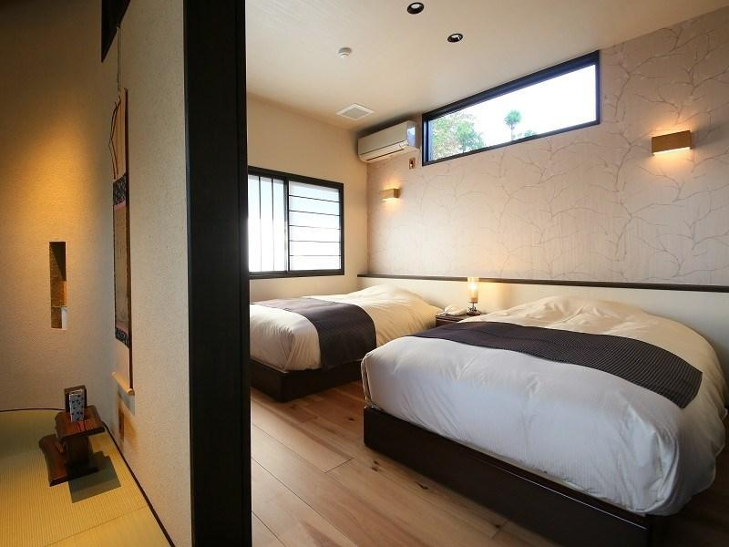 다다미 침대 객실 (Detached Special Japanese/Western-style Room with Open-air Bath (2 Beds, Private Villa))