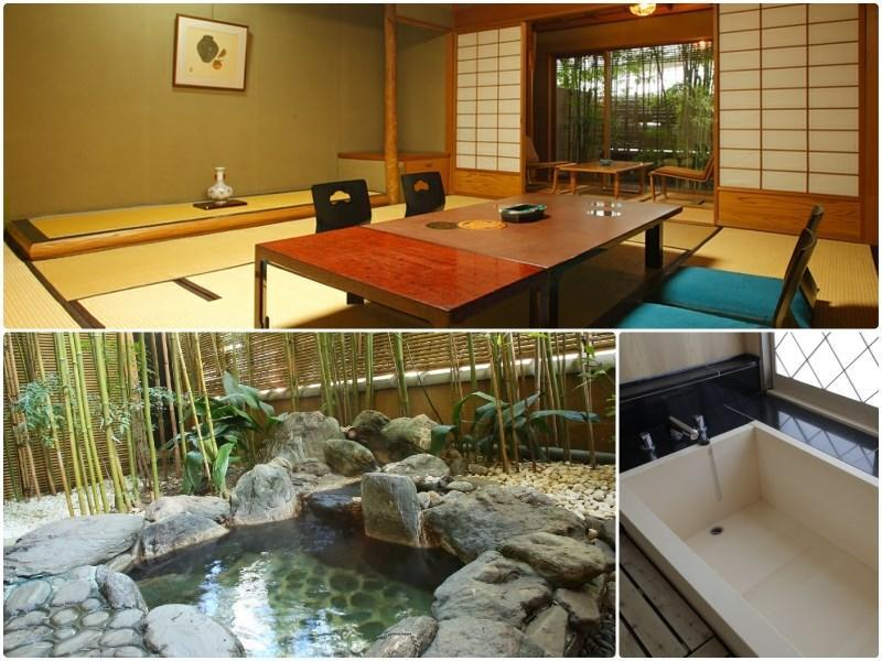 Japanese-style Room with Open-air Hot Spring Bath & Hiroen Space