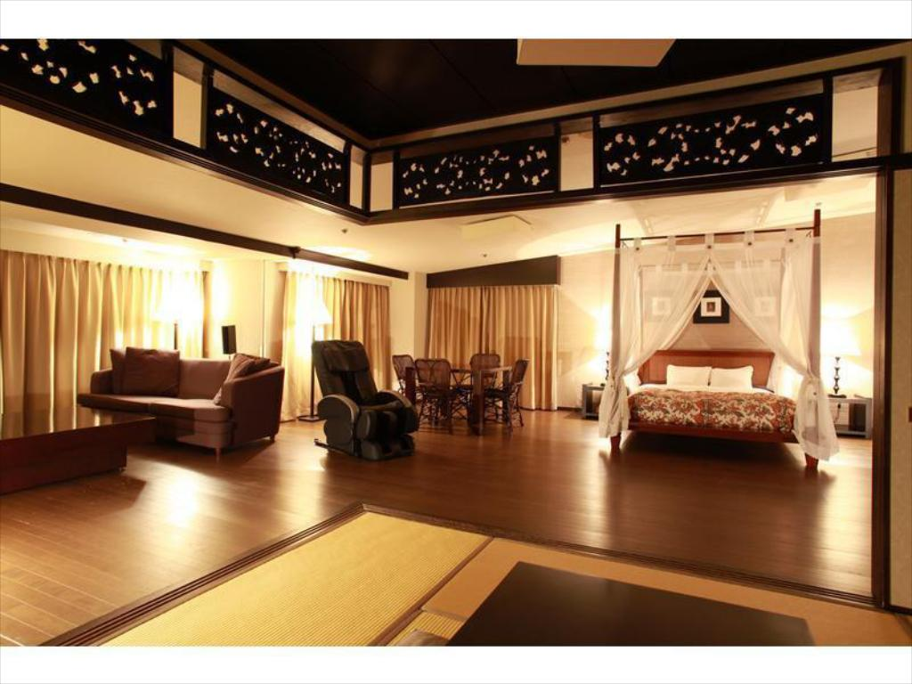 Japanese/Western-style Asian Suite (2-4 Beds) - ห้องพัก