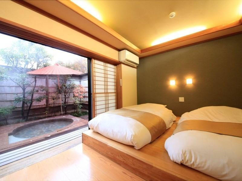 Japanese/Western-style Twin Room with Open-air Bath (Yumedono Wing)