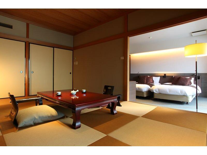 和洋式房+露天風呂 (Japanese/Western-style Room with Open-air Bath)