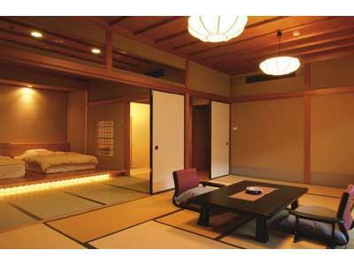 다다미 침대 객실(노천탕)  (Japanese/Western-style Room with Open-air Bath (2 Beds, Main Building))
