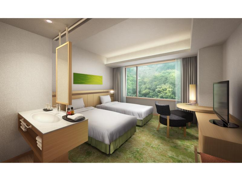 新館AQUA SQUARE コートヤード ツイン 禁煙 (Courtyard Twin Room (New Building Aqua Square))