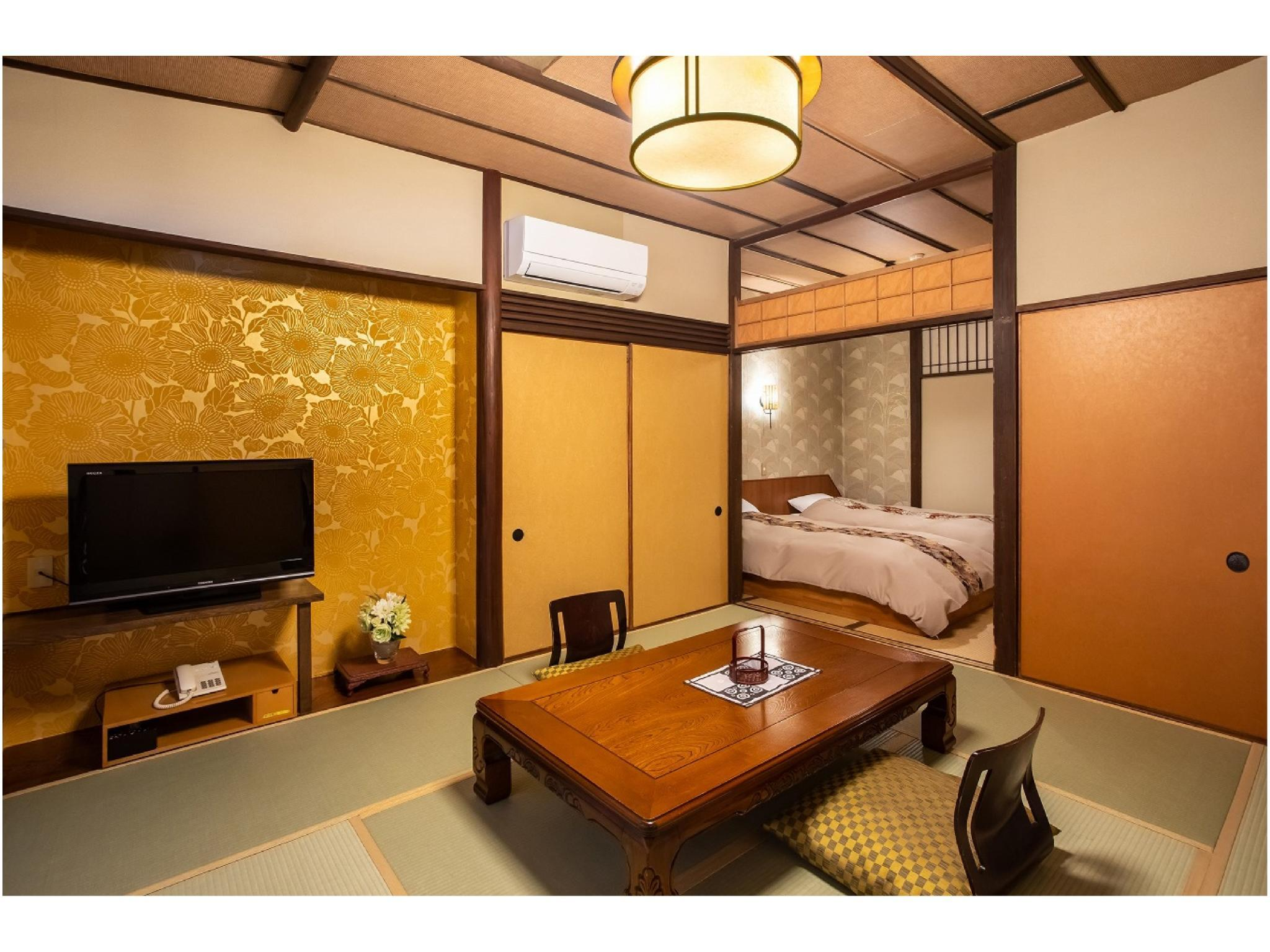 Japanese/Western-style Room with Open-air Hot Spring Bath (Con Con Type)