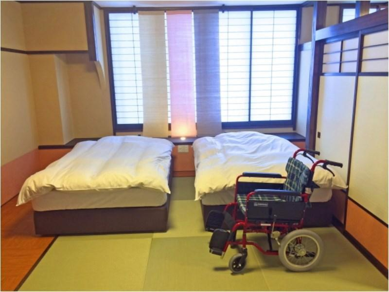 无障碍和洋式房+宽走廊 (Japanese/Western-style Room with Hiroen Space (Barrier Free Room))