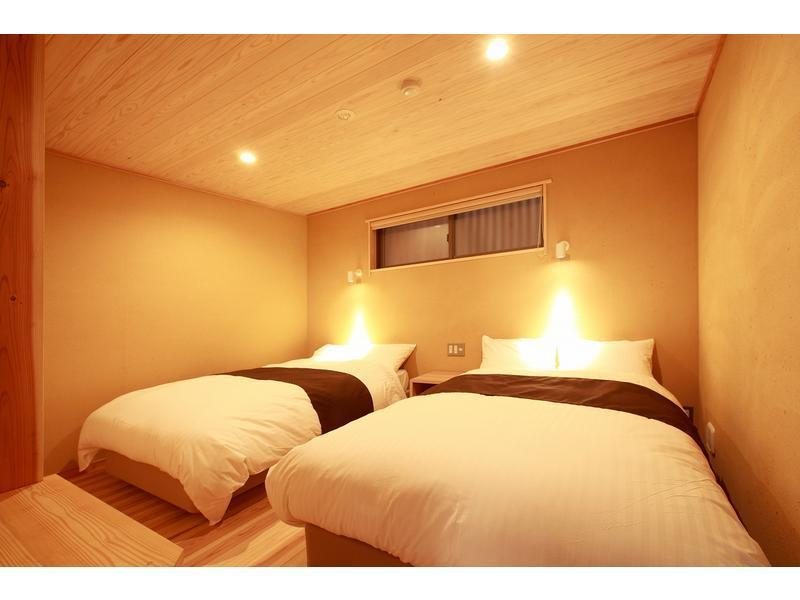 双人双床房 (Detached Room with Open-air Bath or Semi Open-air Bath (2 Beds, Japanese-style Room + Bedroom))