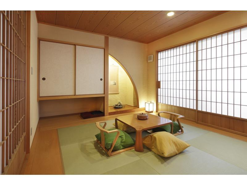 다다미 침대 객실(2베드/노천탕) (Japanese/Western-style Room with Open-air Bath (2 Beds))
