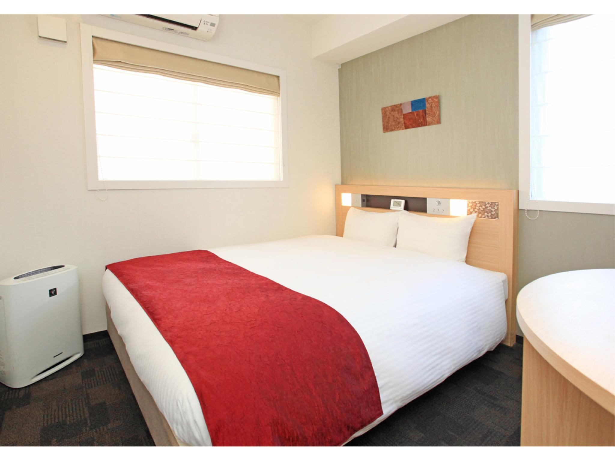 【ダブル】【禁煙】ベッド幅:195×160 (Double Room*Has shower, no bath in room)
