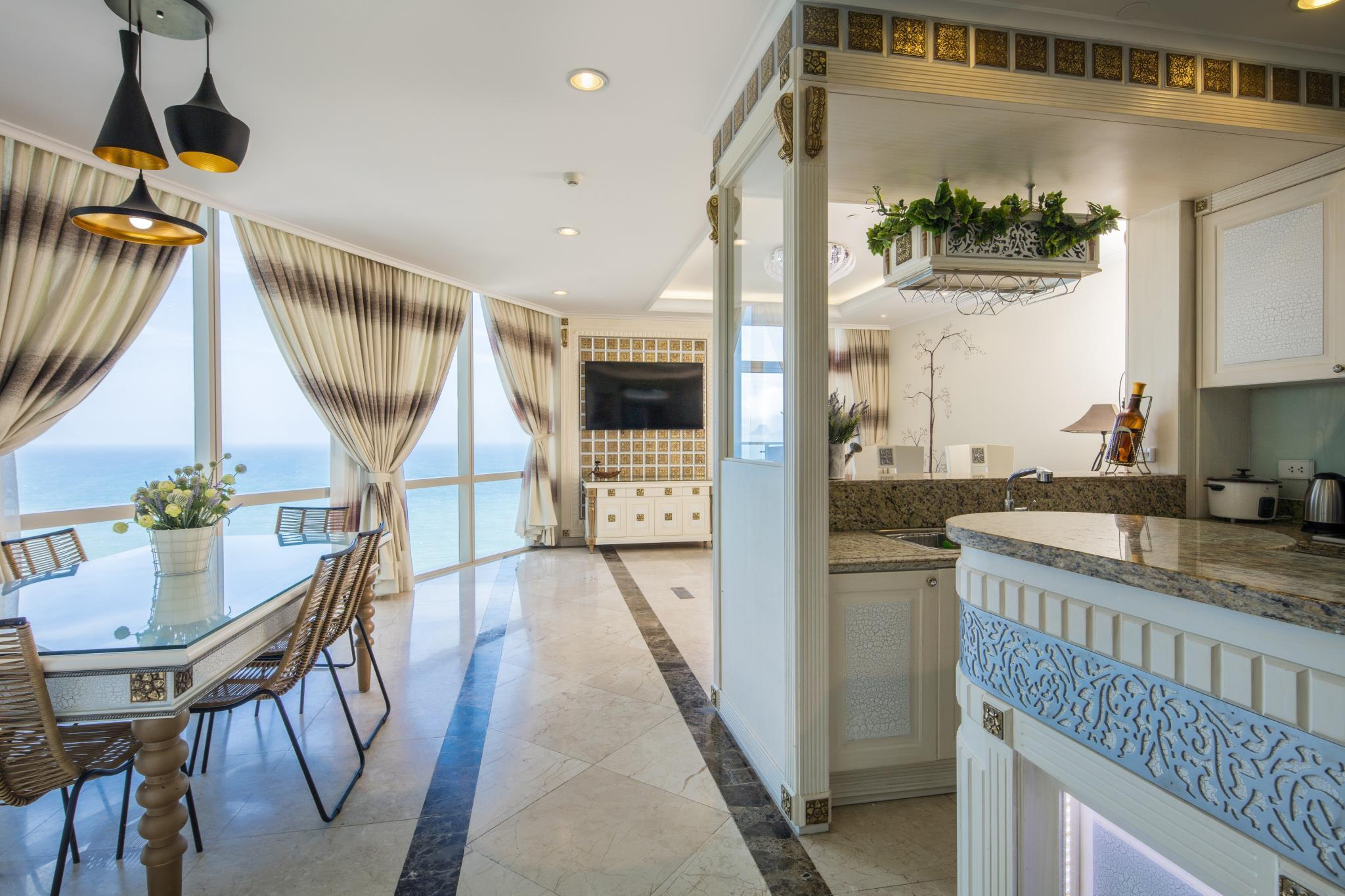 Premium Two-Bedroom Suite With Side Sea View
