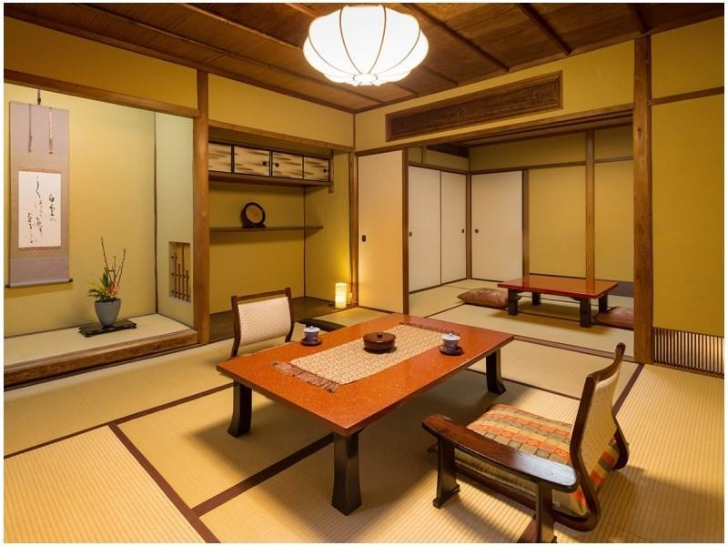 悠之間 松風/加茂/井筒/花月 和式房+寬走廊+檜木風呂 (Japanese-style Room with Hiroen Space & Cypress Bath (Yu-no-Ma Type/Matsukaze Type/Kamo Type/Izutsu Type/Kagetsu Type))