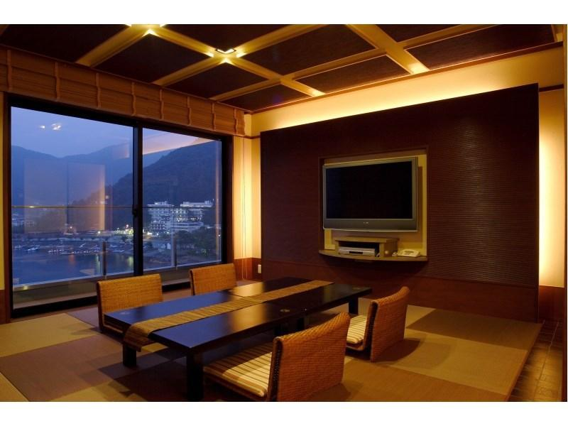 Special Modern Japanese-style Room with Semi Open-air Hot Spring Bath (Kohaku Type)