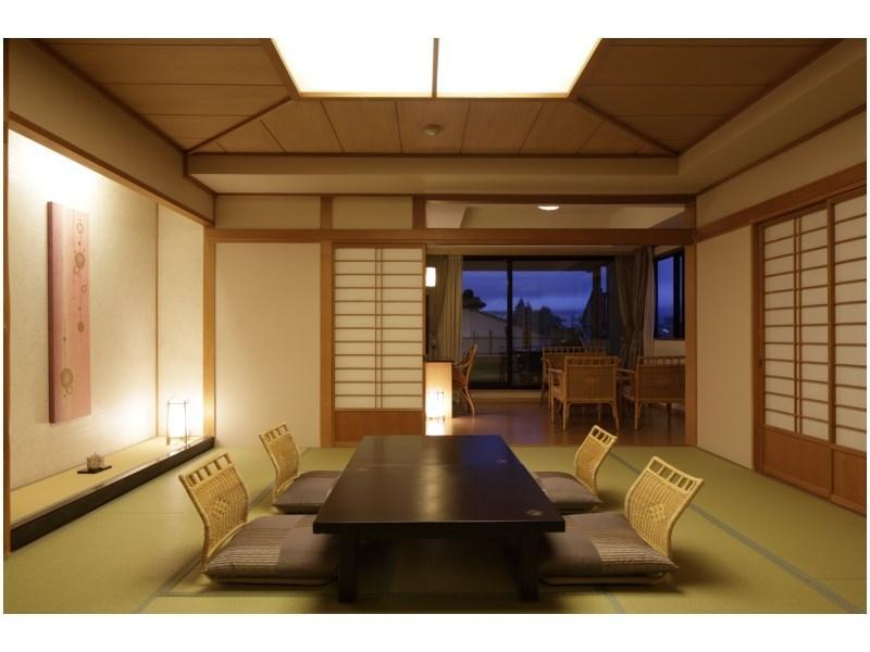 New Japanese-style Room with Open-air Bath & Scenic View Bath