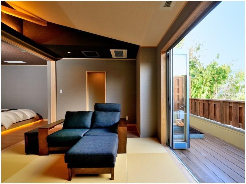 Detached Japanese/Western-style Room with Open-air Bath (2 Beds)