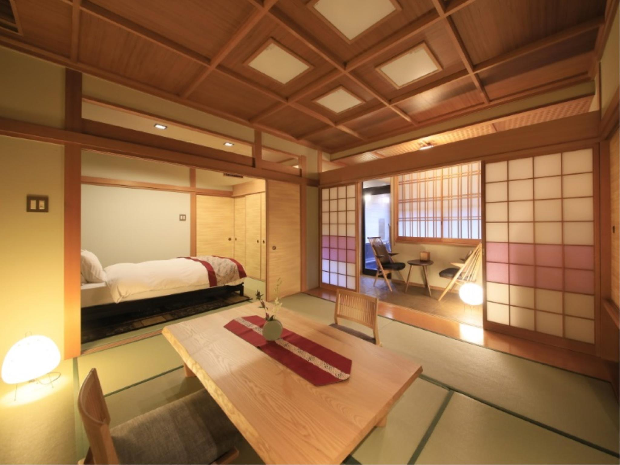 Japanese-style Room with Semi Open-air Hot Spring Bath (Double Bed, Main Building)