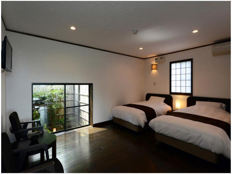 和洋室 2ベッド 露天風呂付|4.5畳+洋間 (Japanese/Western-style Room with Open-air Bath (2 Beds))