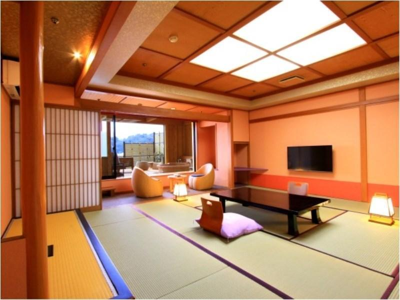 다다미 객실(특별실 MIYAKOWASURE/테라스/노천탕) (Special Japanese-style Room with Terrace & Open-air Bath (Miyakowasure Type))