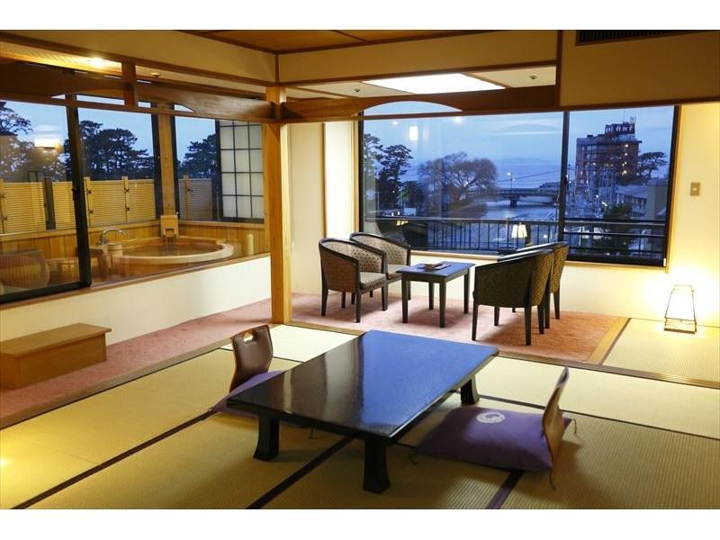 특별실(NADESHIKO/코너룸/노천탕) (Special Corner Room with Open-air Bath (Nadeshiko Type))