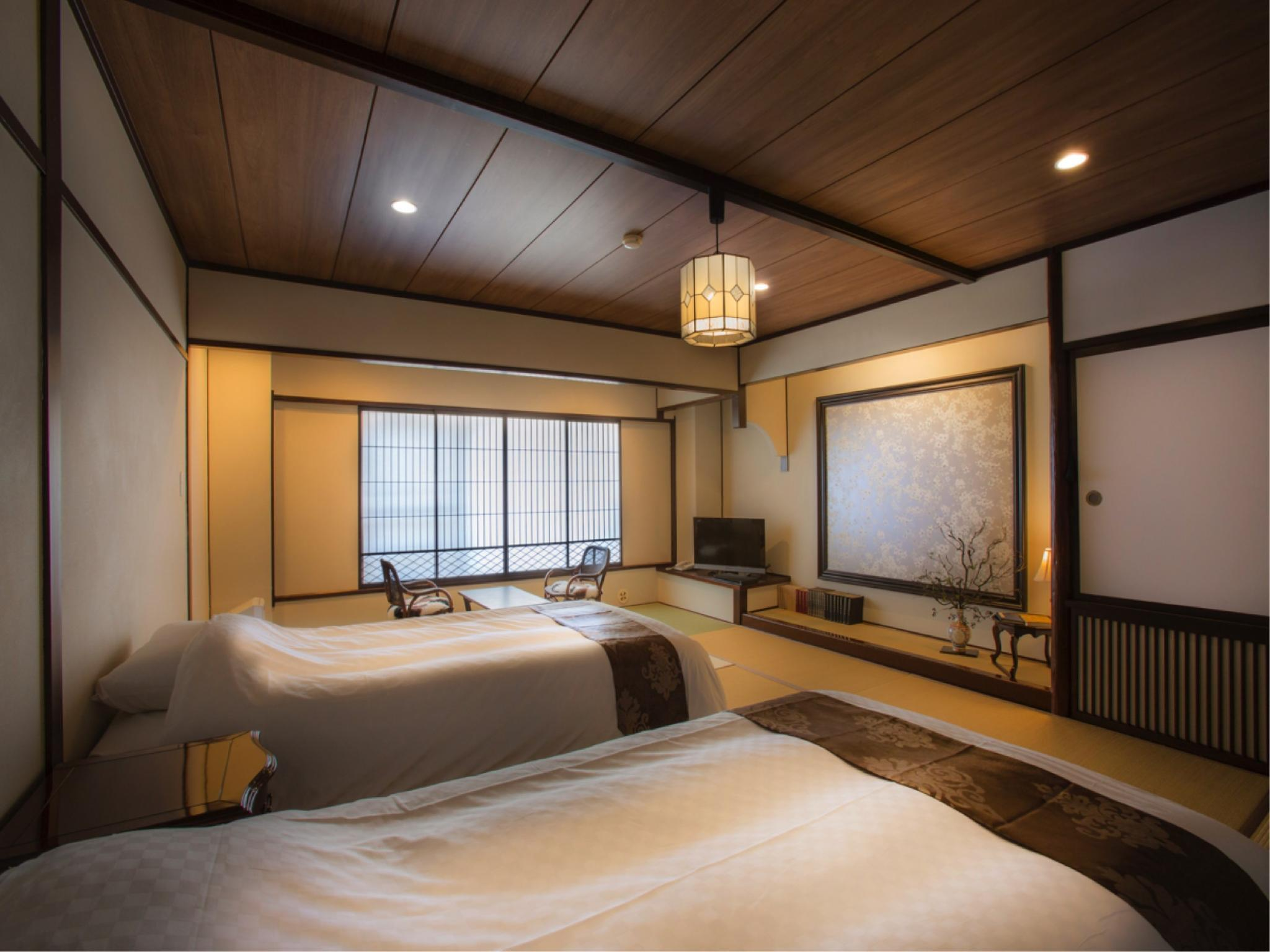本館 深山亭 標準和式房+床 (Standard Japanese-style Room with Bed(s) (Miyamatei Wing, Main Building))