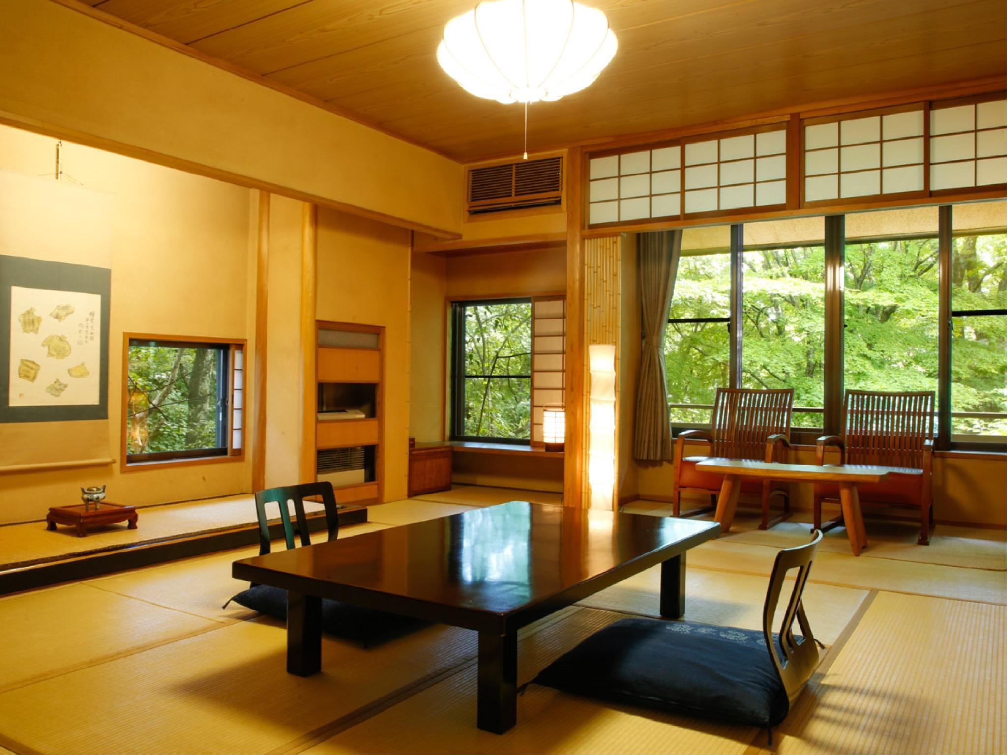 다다미 객실(BENIHANA/실내 히노키탕) (Japanese-style Room with Indoor Cypress Bath (Benihana Type))