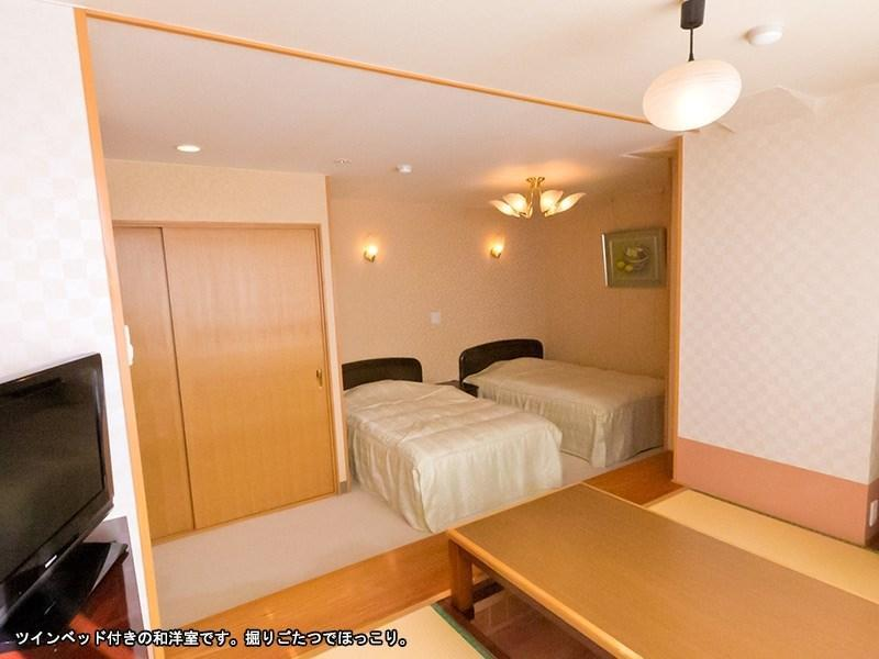 Japanese/Western-style Room (Twin Beds) *No pets