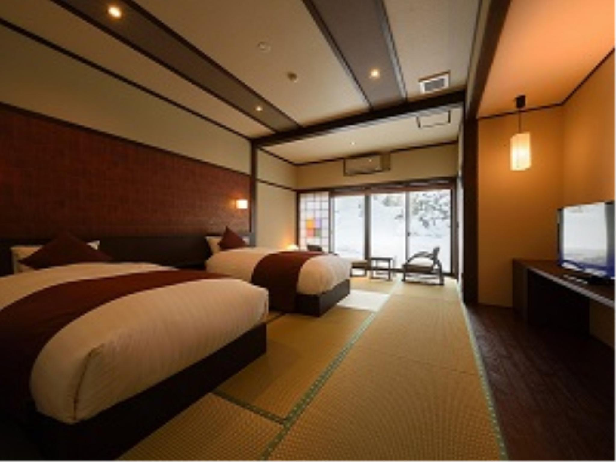 精緻和洋式房(2張床) (Superior Japanese/Western-style Room (Twin Beds))