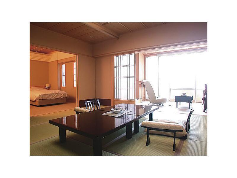 다다미 침대 객실(본관/2베드/전망탕) (Japanese/Western-style Room with Scenic View Bath (2 Beds, Main Building))