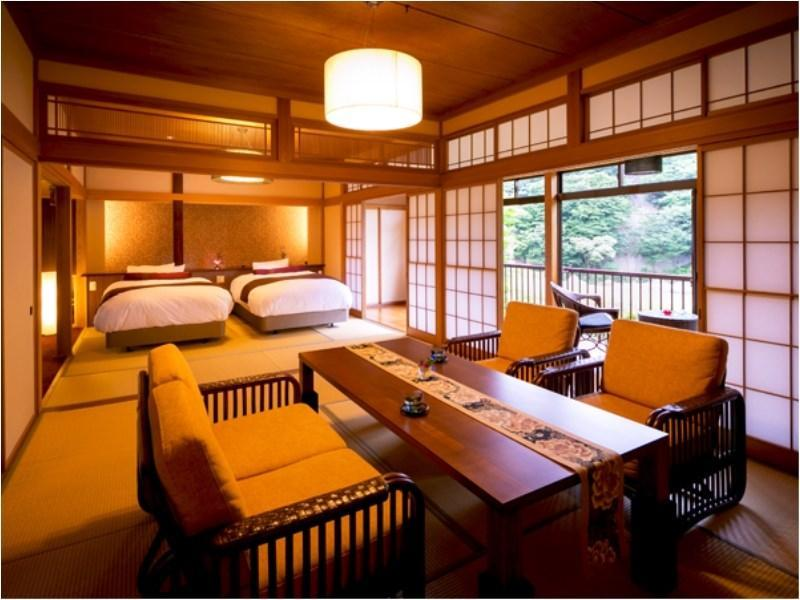 和室|10畳+次の間10畳 (Detached Japanese-style Room with Open-air Bath (2 Beds, Matsu-no-So Type))