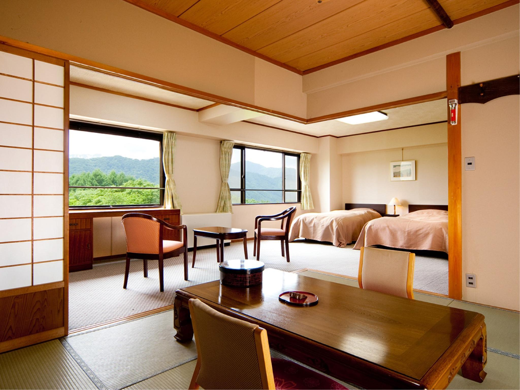 Japanese/Western-style Room with Twin Beds & Indoor Hot Spring Bath
