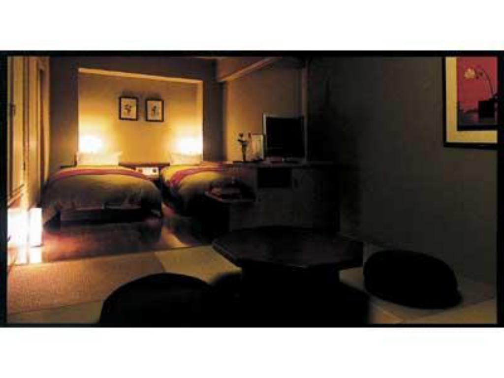 Japanese/Western-style Room with Semi Open-air Bath (New Building) - Guestroom Wakatakenosho