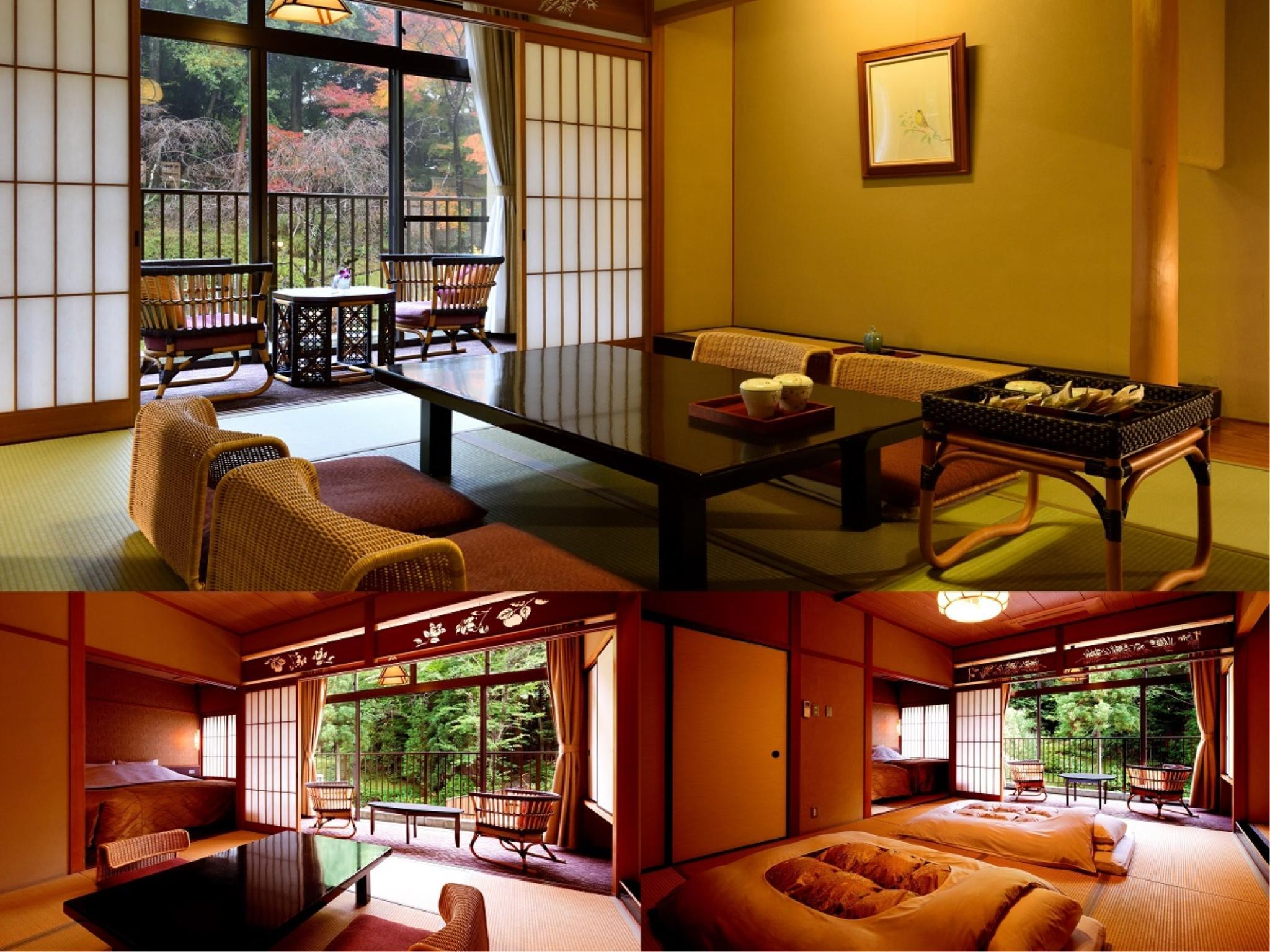 和洋式房 (Japanese/Western-style Room with Hiroen Space (Twin Room + Japanese-style Room))