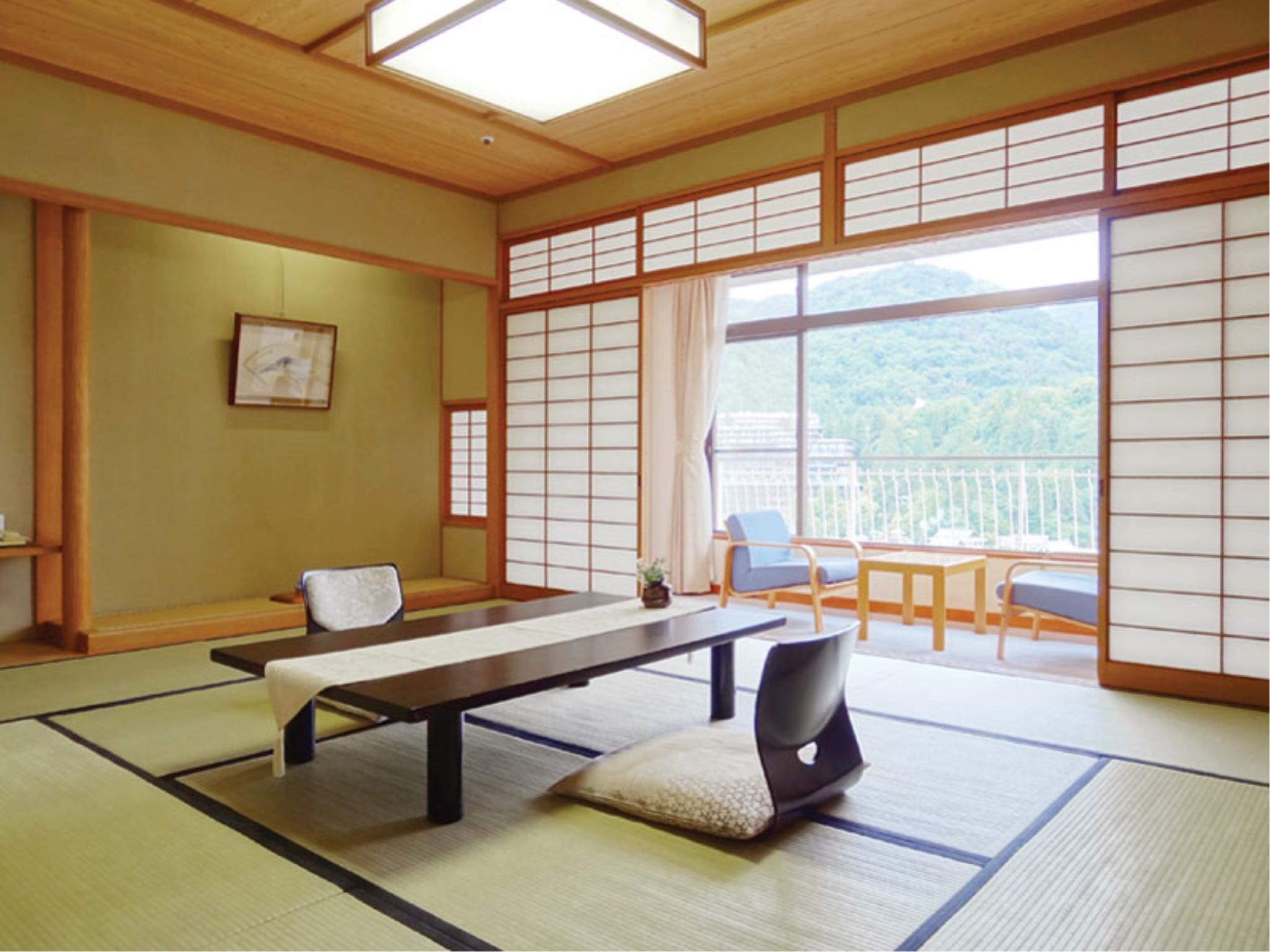 西館和室【禁煙】N|10畳+踏込2畳 (Japanese-style Room (Type N, West Wing))