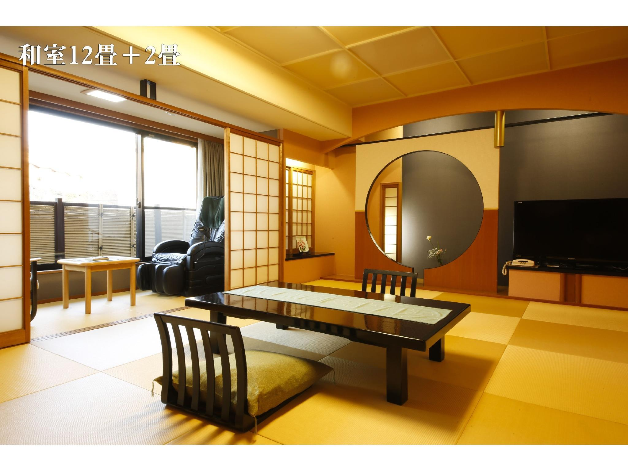 和式房12帖+2帖榻榻米+按摩椅 (Japanese-style Room with Massage Chair (12 tatami + 2 tatami))