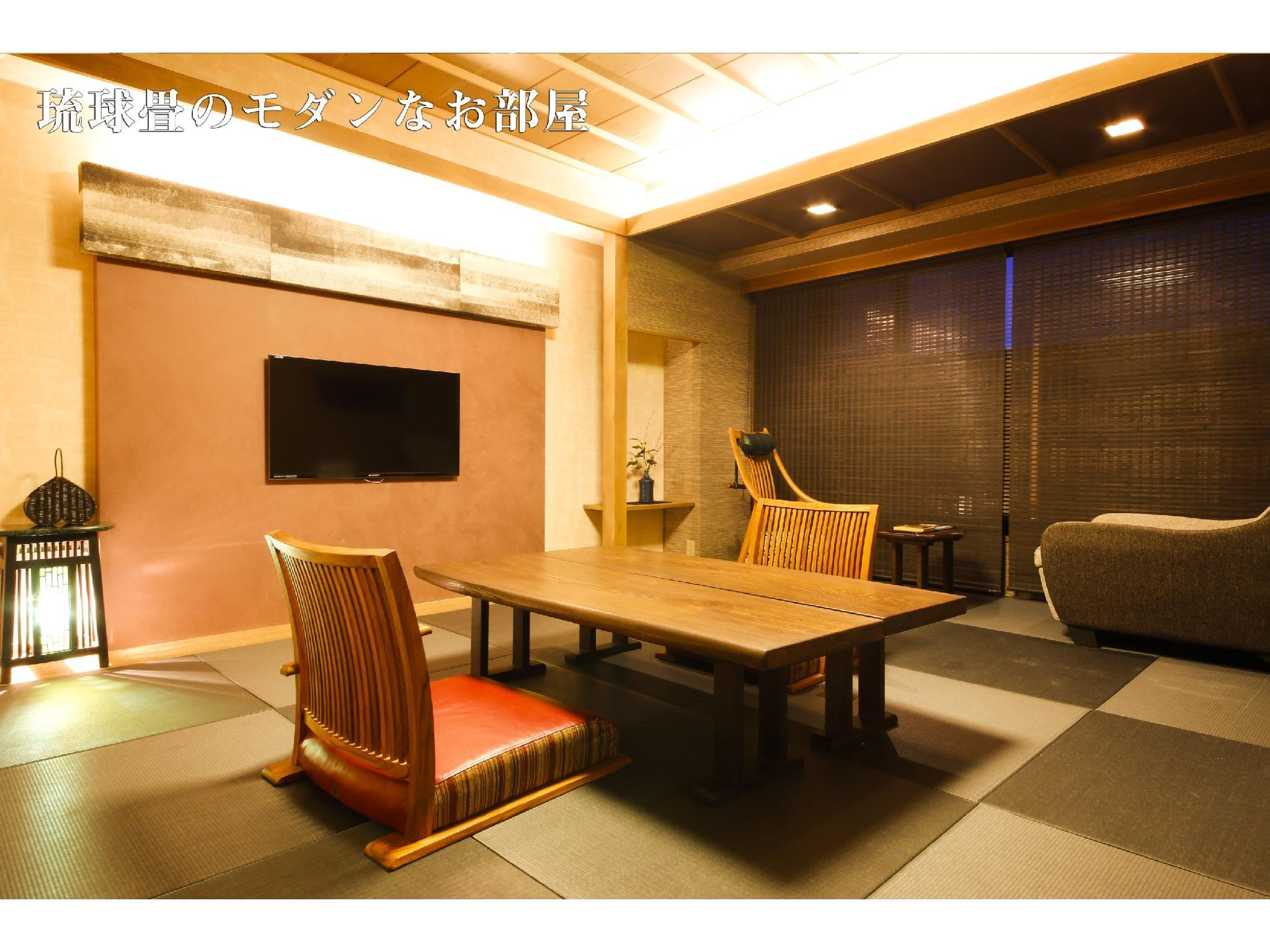 和式房10帖榻榻米+溫泉浴室 (Japanese-style Room with Indoor Hot Spring Bath (10 tatami))