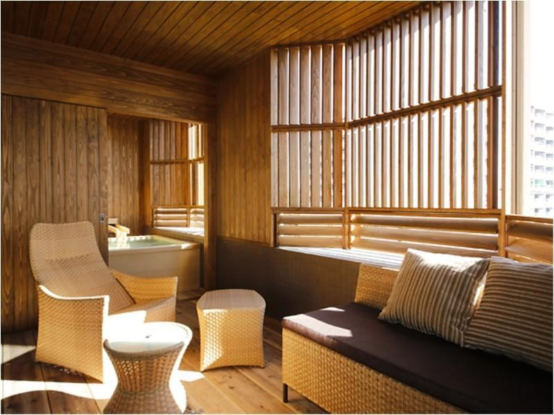 【特別フロア】露天風呂付客室 TypeB(諭鶴羽山側/禁煙) (Japanese/Western-style Room with Open-air Bath (Type B, Special Floor))
