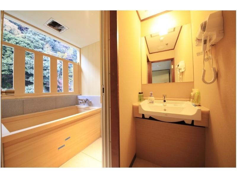 Japanese-style Room with Semi Open-air Hot Spring Bath(River Side/West Wing/Non-smoking)