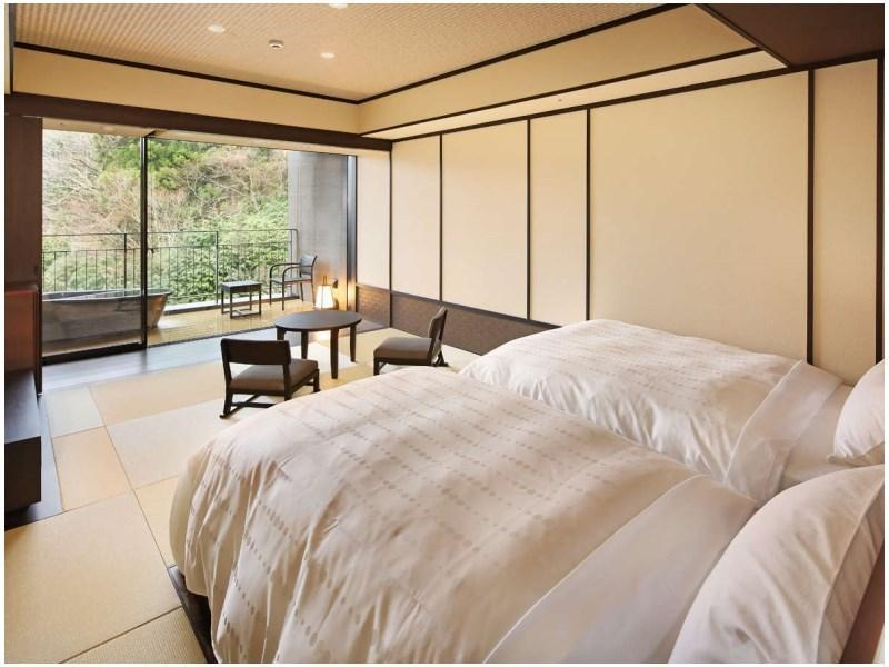 露天風呂付客室|35平米 (Japanese-style Room with Open-air Bath (2 Japanese Beds))