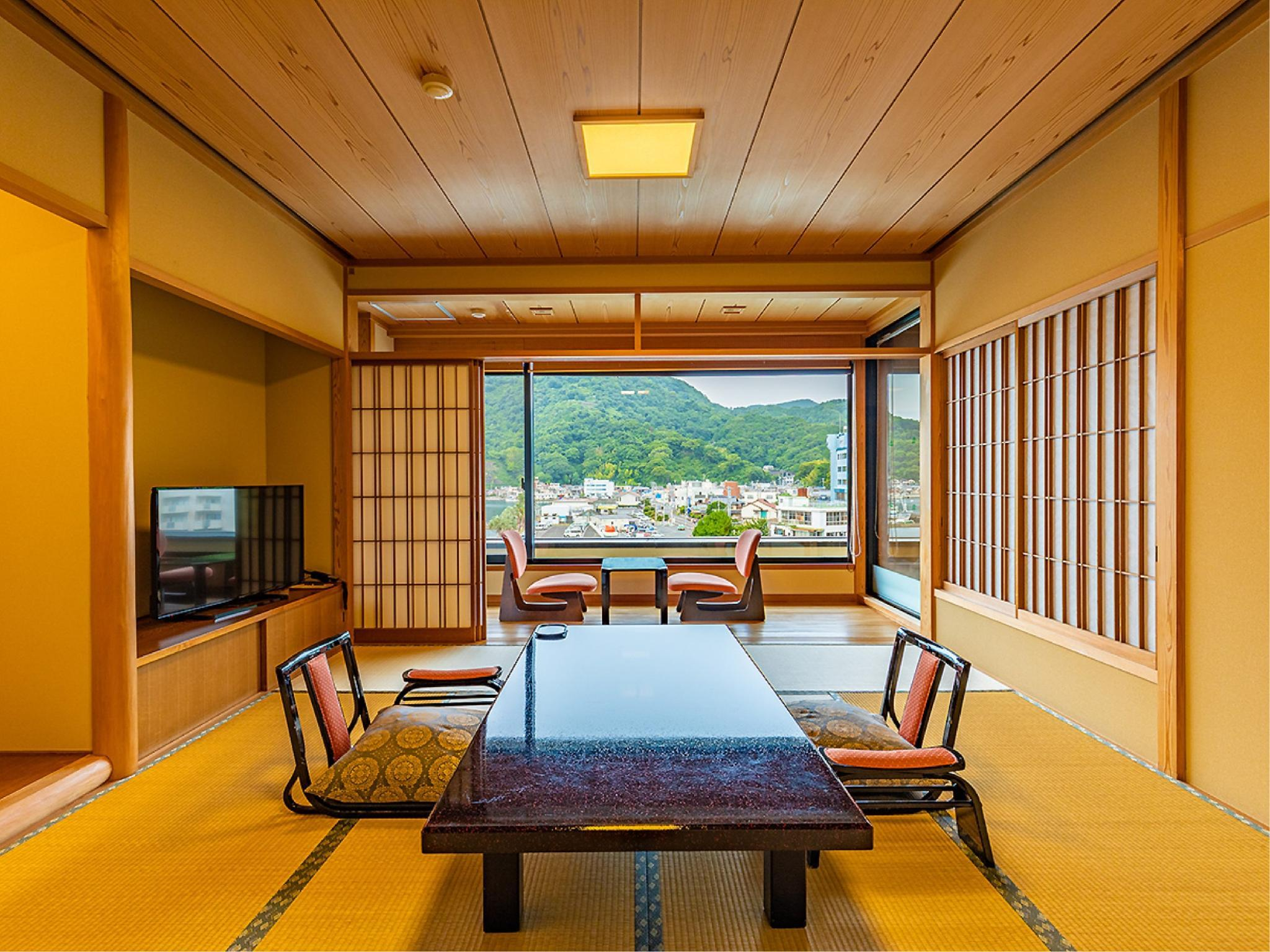風 和式房+半露天風呂 (Japanese-style Room with Semi Open-air Bath (Kaze Type))