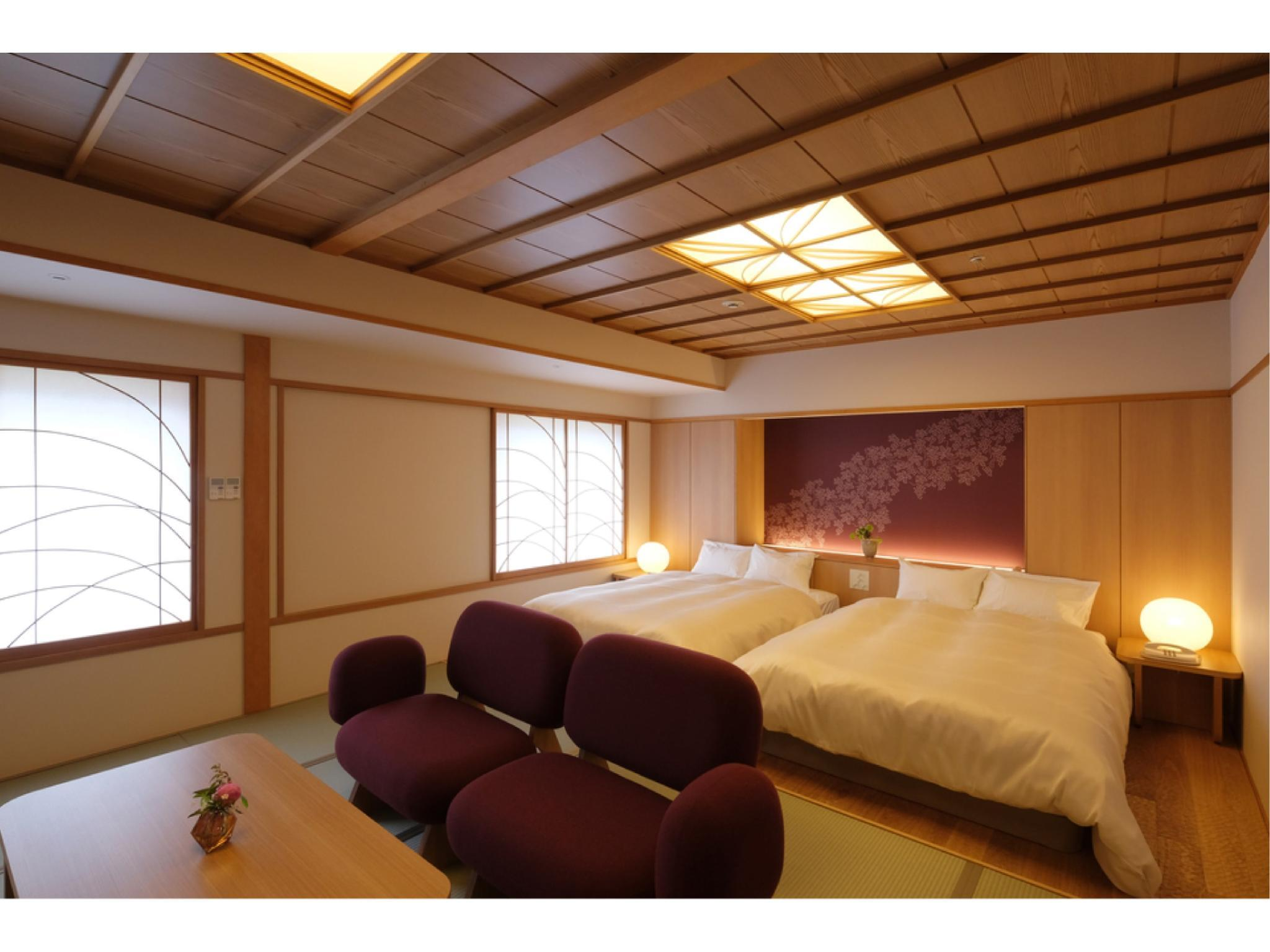 트윈룸 (Modern Japanese-style Twin Room or Modern Japanese Wood Room)