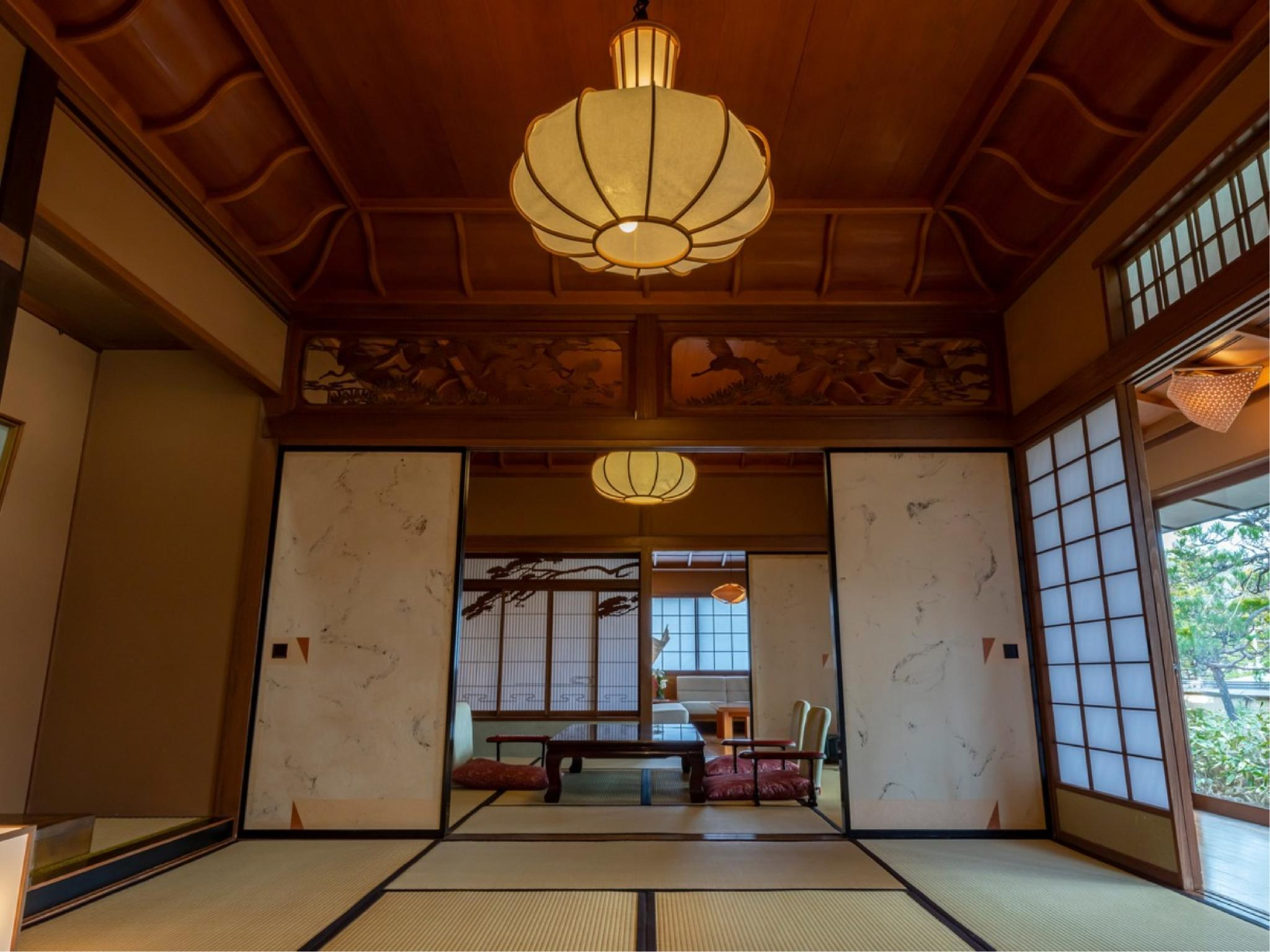 다다미 객실 또는 다다미 침대 객실(SENKEIEN HAGI, HINOKI/히노키 온천탕) (Seikeien Japanese-style Room or Japanese/Western-style Room with Cypress Hot Spring Bath (Hagi/Hinoki Type))